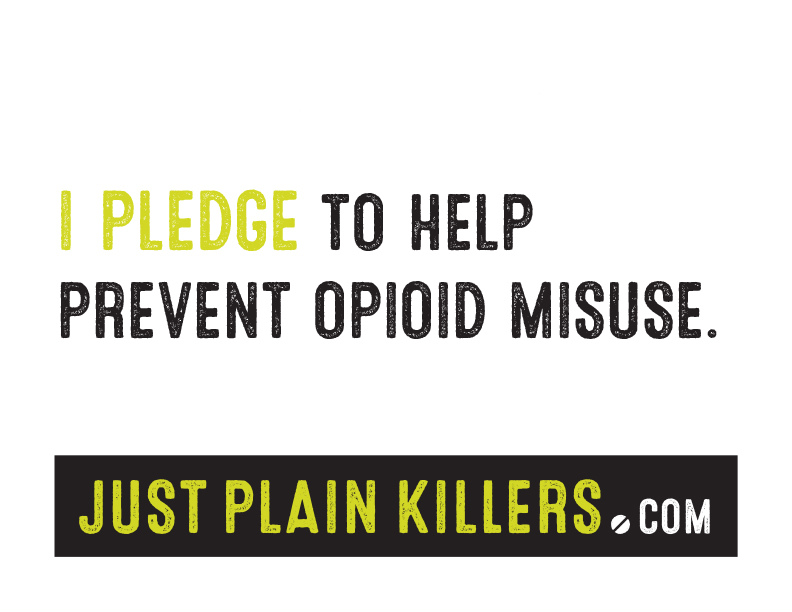 Sign: I pledge to help prevent opioid misuse